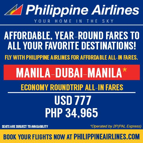 Philippine Airlines Dubai Promo For As Low P34 965 Roundtrip All In